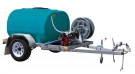 1000L Water Fire fighting trailer single axle