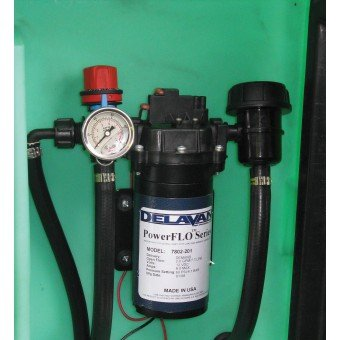 Delavan pump with regulator, gauge and filter