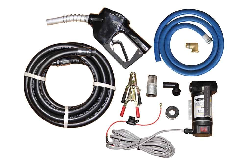 12v diesel pump kit with diesel hose and diesel nozzle