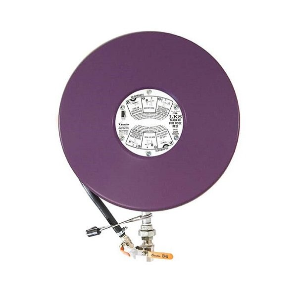 Lilac purple recycled water hose reel