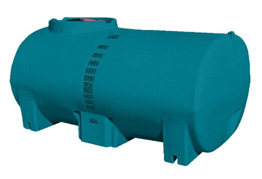3000 litre blue aqua v water storage tank by Rapid Spray