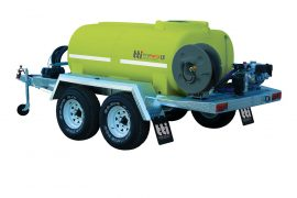 Water cart trailer for fire fighting