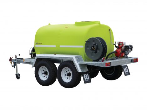 Water tanker trailer for fire fighting and dust suppression