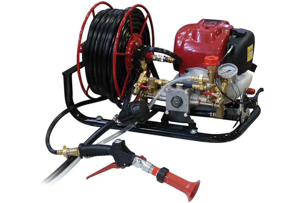 Spray Marshal Pump and Hose Reel Honda Engine